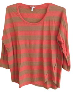 Joie T Shirt tan/orange