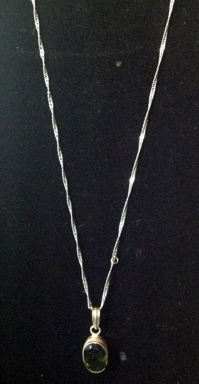 Other sterling and kornerupine gemstone necklace