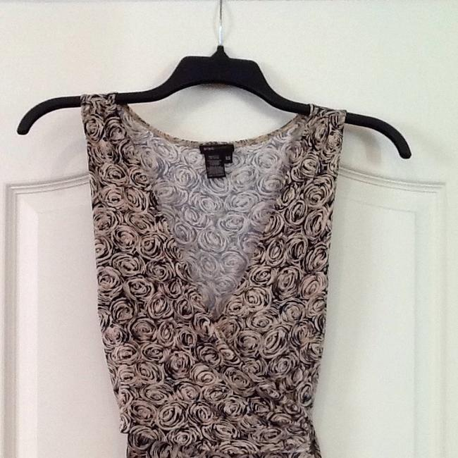 BCBG short dress Beige/black on Tradesy