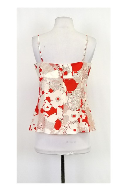 Trina Turk Print Top Orange & White