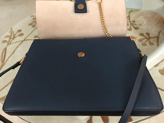 Chloé Faye Crossbody Grained Leather Suede Lining Shoulder Bag