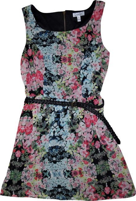 Preload https://img-static.tradesy.com/item/22993162/speechless-black-pink-blue-yellow-green-floral-belted-flowy-short-casual-dress-size-8-m-0-1-650-650.jpg