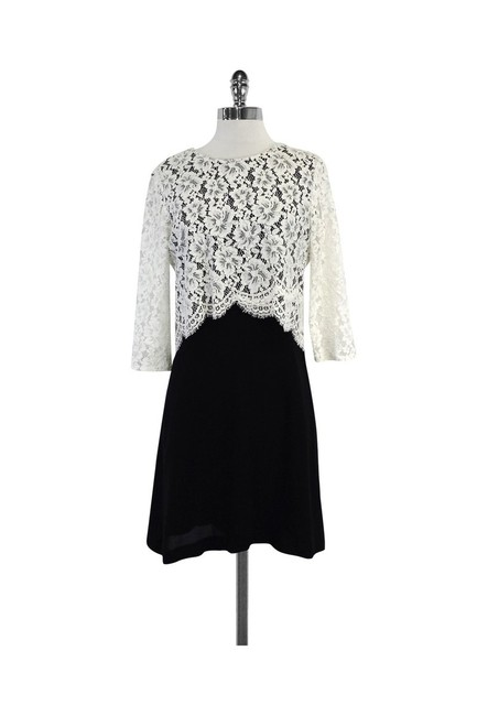 Preload https://img-static.tradesy.com/item/22993165/sandro-black-and-white-layered-lace-short-casual-dress-size-2-xs-0-0-650-650.jpg