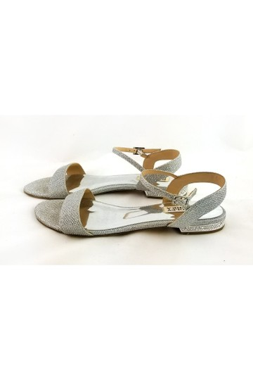 Badgley Mischka Metallic Silver Sandals