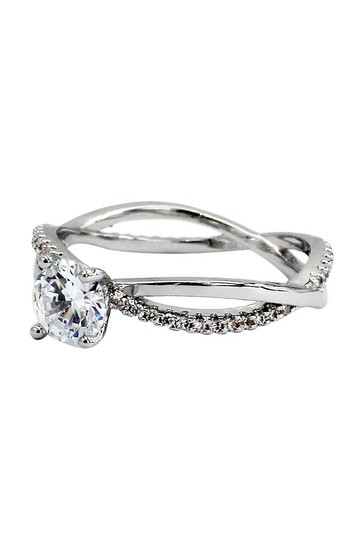 ocean Fashion Fashion cabinet intersect crystal silver ring