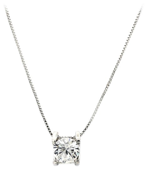 Preload https://img-static.tradesy.com/item/22993219/silver-single-crystal-necklace-0-1-540-540.jpg