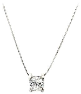 Ocean Fashion Sterling silver Single crystal necklace
