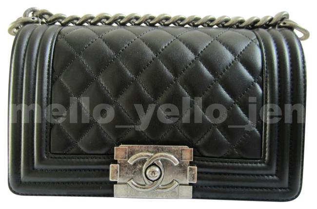 Chanel Boy New Small Ruthenium Hardware Classic Black Lambskin Leather Cross Body Bag Chanel Boy New Small Ruthenium Hardware Classic Black Lambskin Leather Cross Body Bag Image 1