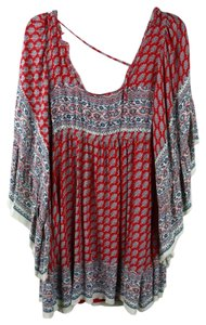 Free People short dress red/blue on Tradesy - item med img
