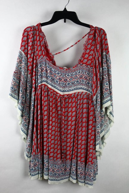 Free People short dress red/blue on Tradesy