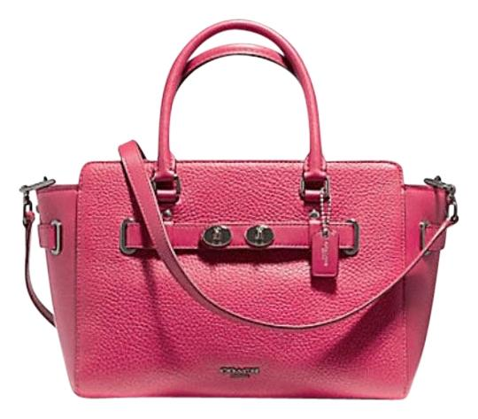 Preload https://img-static.tradesy.com/item/22993453/coach-swagger-blake-carryall-25-in-bubble-55665-pink-leather-satchel-0-1-540-540.jpg