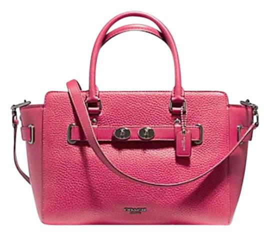 Preload https://img-static.tradesy.com/item/22993456/coach-swagger-blake-carryall-25-in-bubble-55665-pink-leather-satchel-0-1-540-540.jpg