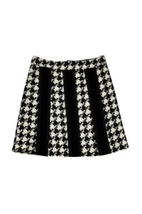 Nanette Lepore Houdstooth Skirt Black