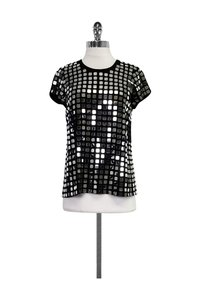Alice + Olivia Mirror T-shirt T Shirt Black