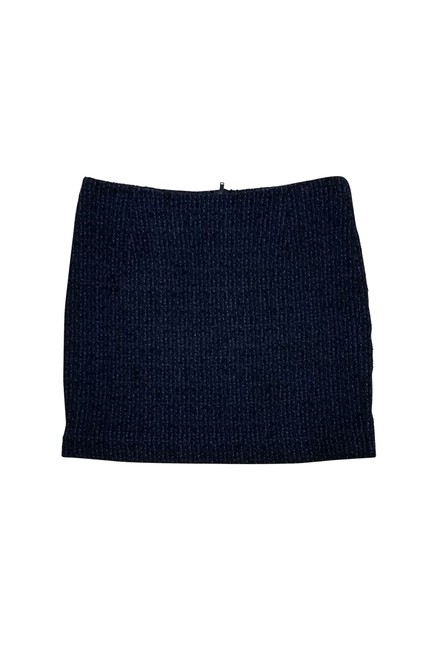 Theory Tweed Mini Skirt Black & Blue