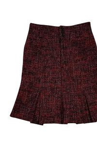 Nanette Lepore Tweed Skirt Red