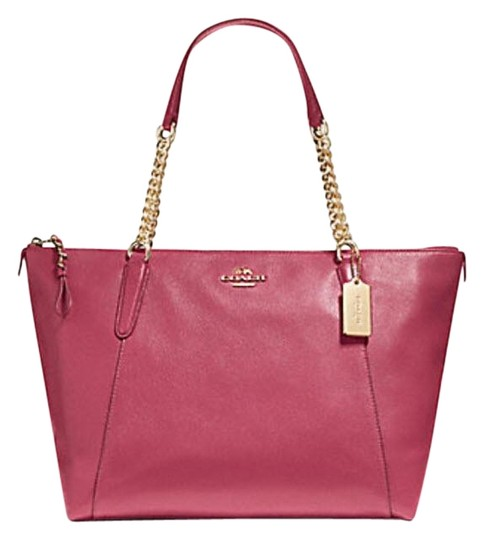 Preload https://img-static.tradesy.com/item/22993598/coach-ava-chain-f22208-pink-leather-tote-0-1-540-540.jpg