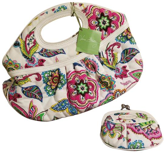 Vera Bradley Palm Beach Gardens Sweet Tote And Matching Wallet Multicolor Cotton Satchel Tradesy