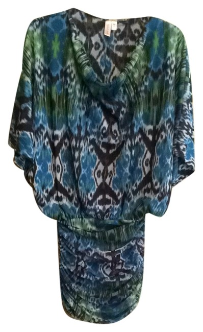 Sweet Pea by Stacy Frati short dress Blue, green and black on Tradesy