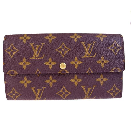 Louis Vuitton Credit Long Bifold Wallet Purse Monogram Brown M61725