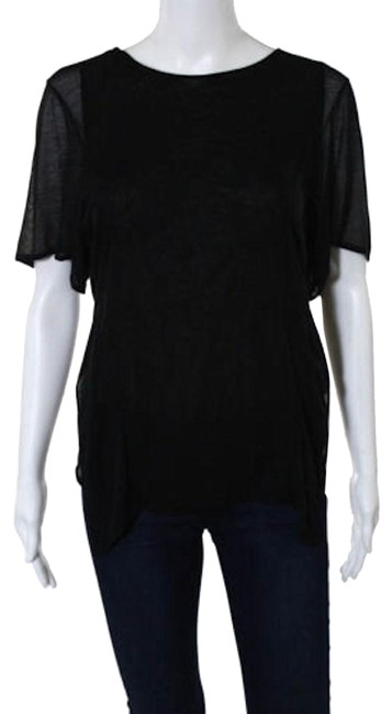 Preload https://img-static.tradesy.com/item/22993855/theyskens-theory-black-split-layered-t-shirt-blouse-tee-shirt-size-2-xs-0-1-650-650.jpg