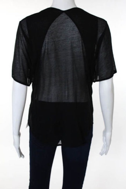 Theyskens' Theory Sheer Going Out T Shirt black