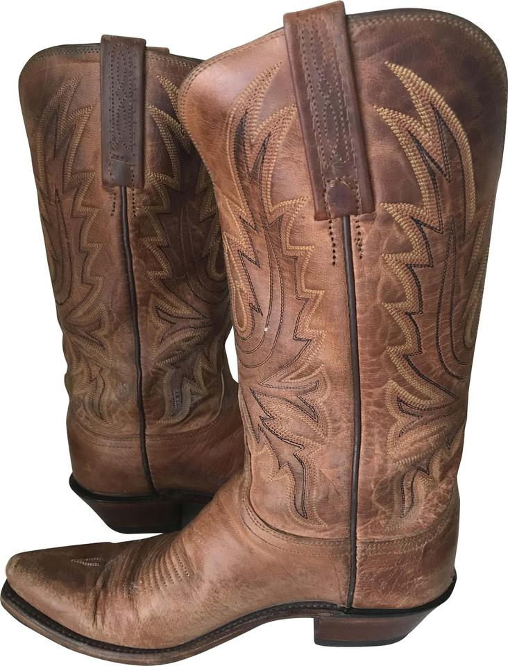 61aeacd2da6 Lucchese Tan 1883 Ladies Mad Dog Snip Toe Western Boots/Booties Size US 7  Regular (M, B) 62% off retail