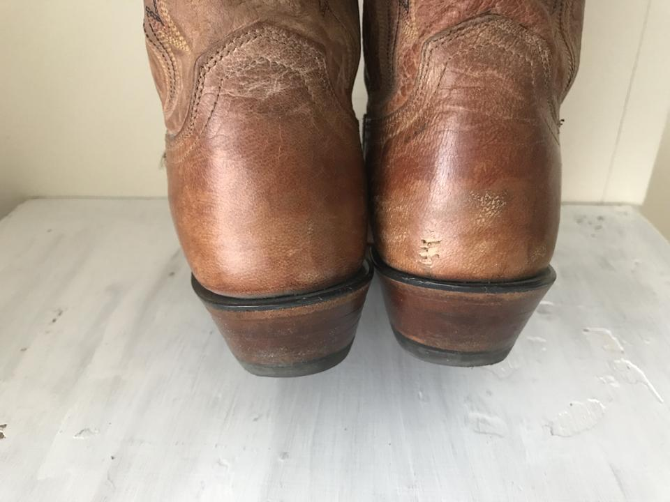 fe2eaca5e25 Lucchese Tan 1883 Ladies Mad Dog Snip Toe Western Boots/Booties Size US 7  Regular (M, B) 62% off retail