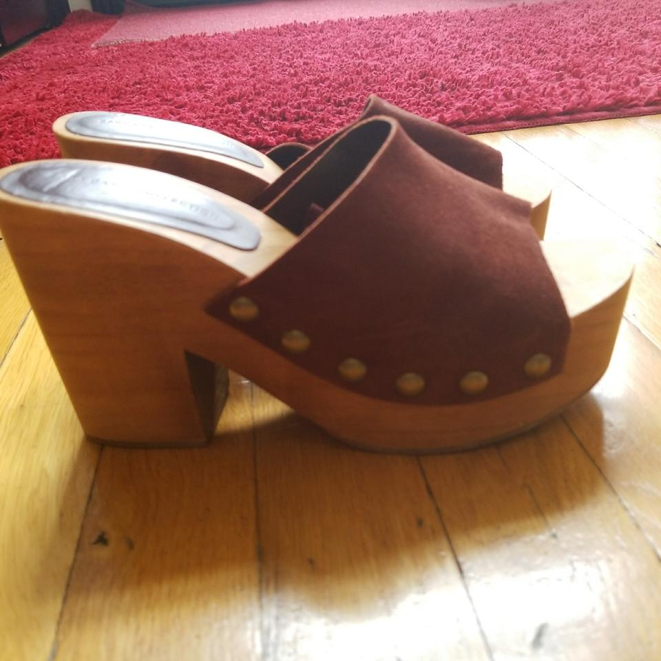 zara studded brown suede mules slides size us 6 regular m b tradesy