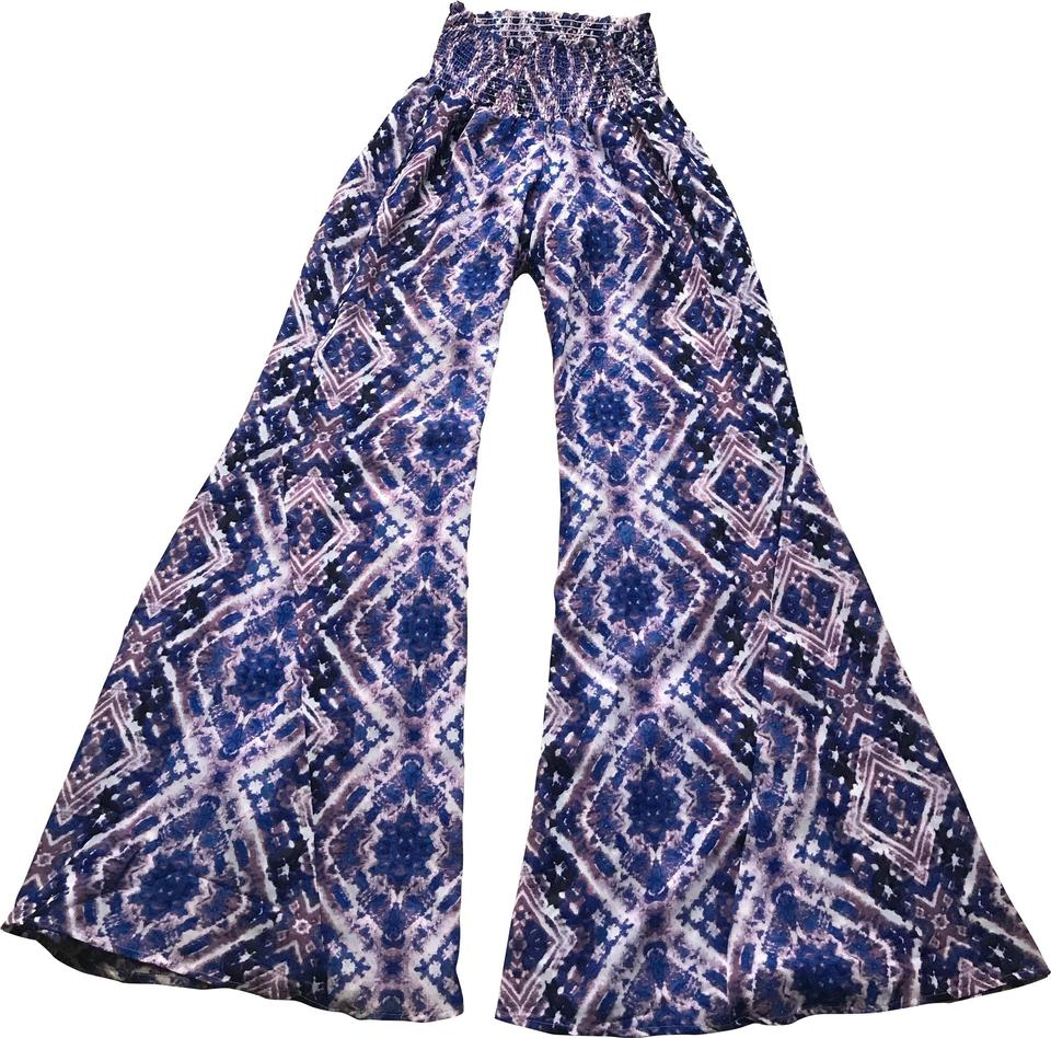 Show Me Your Mumu Purple Sheer Roberts Party Flared Pants ...