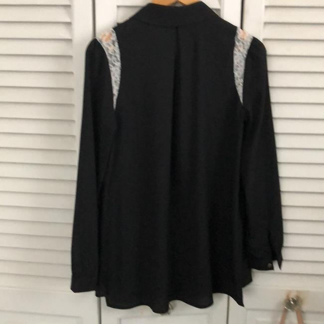 Momo Maternity Button Down Shirt black