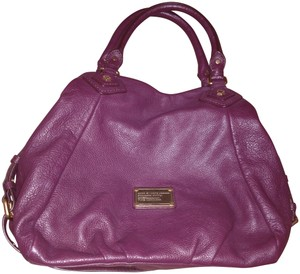 Marc by Marc Jacobs Leather Tote Q Fran Satchel in Dark Wine