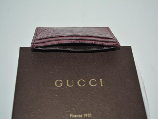 Gucci NIB GUCCI CROCODILE LEATHER CARD CASE WALLET MADE IN ITALY