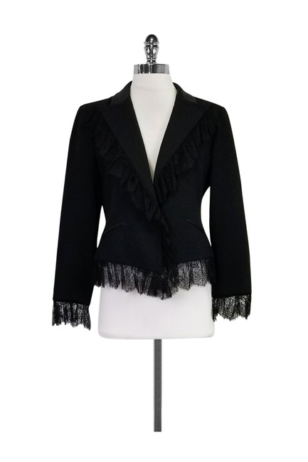 Valentino With Lace Black Blazer