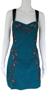 Free People Embroidered Mini Streth Cotton Dress