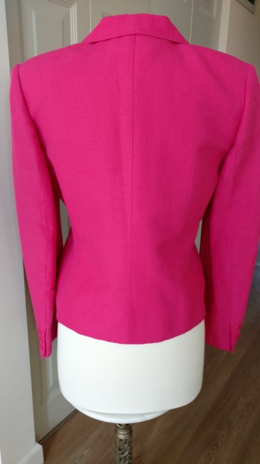 Casual Corner Casual Corner Bright Pink Linen Rayon Pant Suit