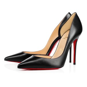 Christian Louboutin Iriza 100mm 4inches Leather Black Pumps