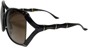 Gucci Gucci Black Polarized Shiny Bamboo 3508/S Sunglasses