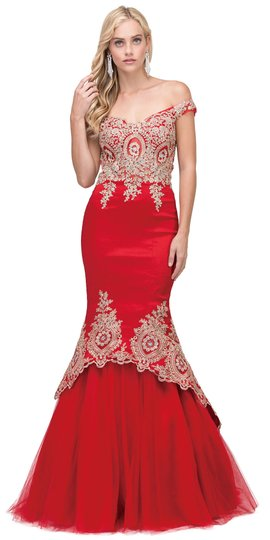 Preload https://img-static.tradesy.com/item/22994723/red-taffeta-exquisite-lace-applique-low-high-layer-skirt-mermaid-long-gown-formal-bridesmaidmob-dres-0-0-540-540.jpg