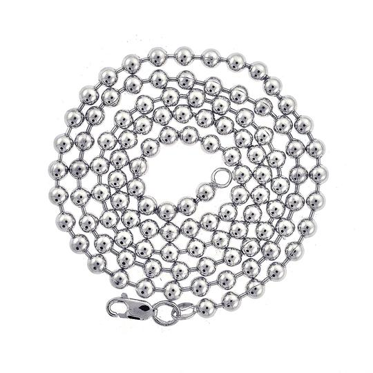 Avital & Co Jewelry Bead Chain Necklace 14K White Gold 24