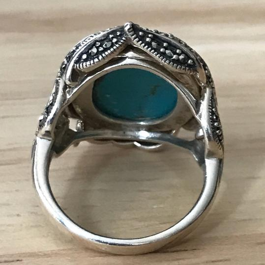 Sterling Turquoise Ring Sterling Turquoise Pave Ring