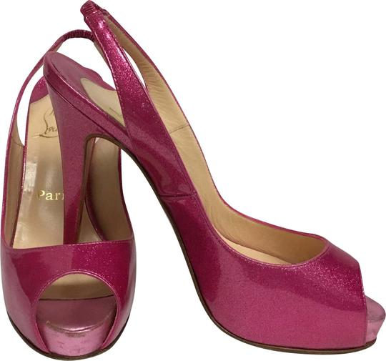 Preload https://img-static.tradesy.com/item/22994824/christian-louboutin-pink-metallic-platform-peep-toe-slingback-pumps-size-eu-37-approx-us-7-regular-m-0-2-540-540.jpg