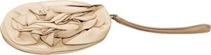 Saint Laurent Ysl Flower Leather Wristlet in Pale Pink