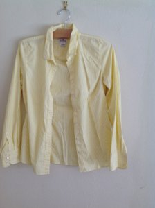 J.Crew Button Down Shirt yellow/white
