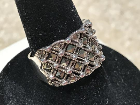 Other Sterling Silver Marcasite Band Ring (Size 5.5)