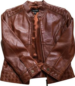 bebe Brown Leather Jacket