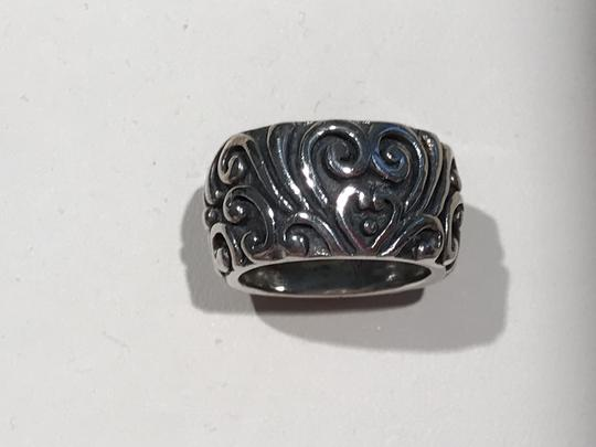Other Sterling Silver Heart Scroll Design Band Ring (Size 5.5)