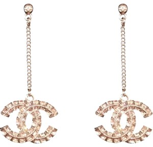 Chanel Chanel Crystal CC Dangle Earrings