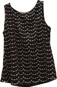 White House | Black Market Dressy Night Out Silver Top Black