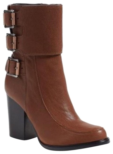 Item - Brown New Leather Dezzi Ankle Boots/Booties Size US 7.5 Regular (M, B)